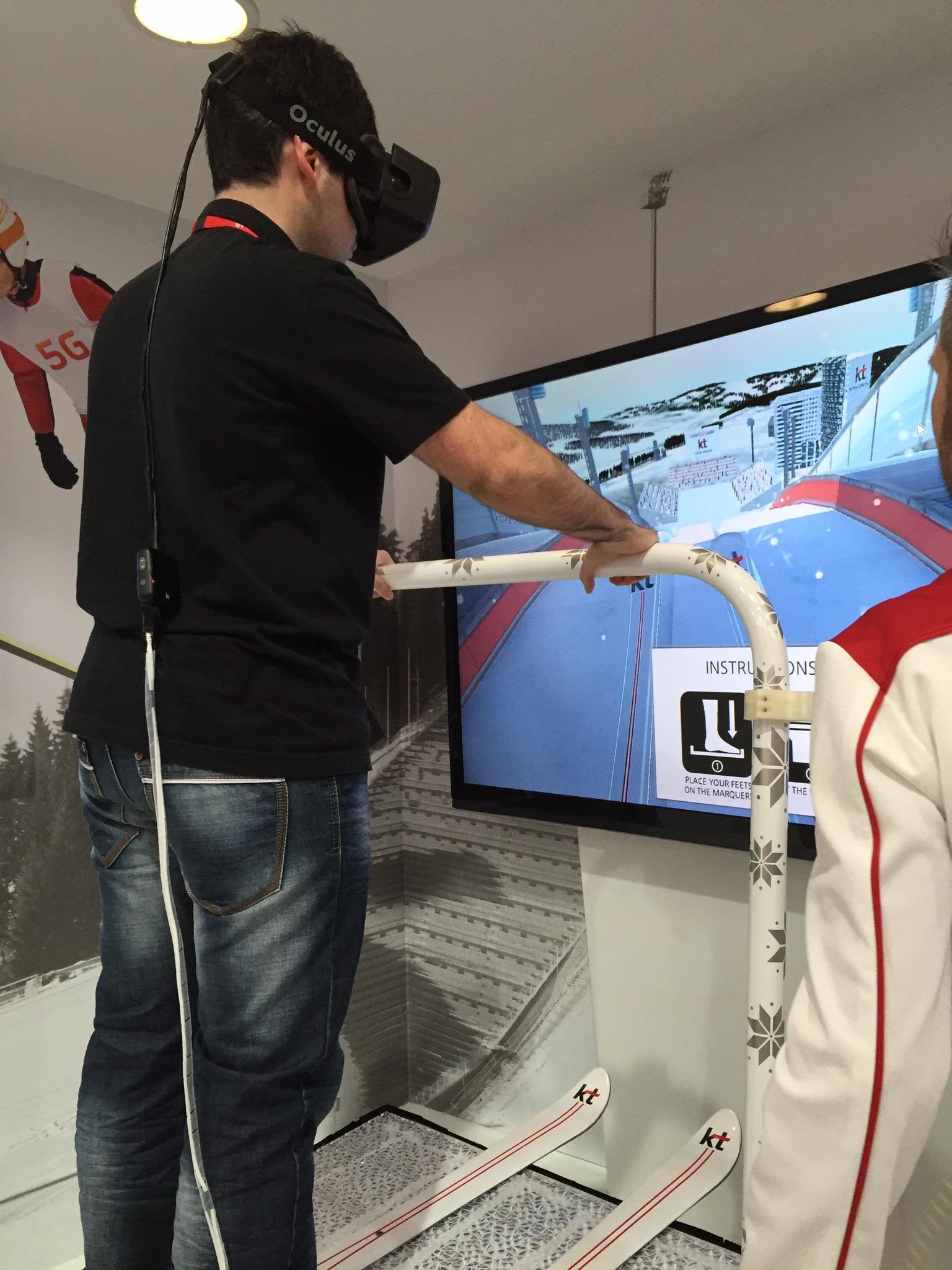 MWC - Realidad virtual - Esquí